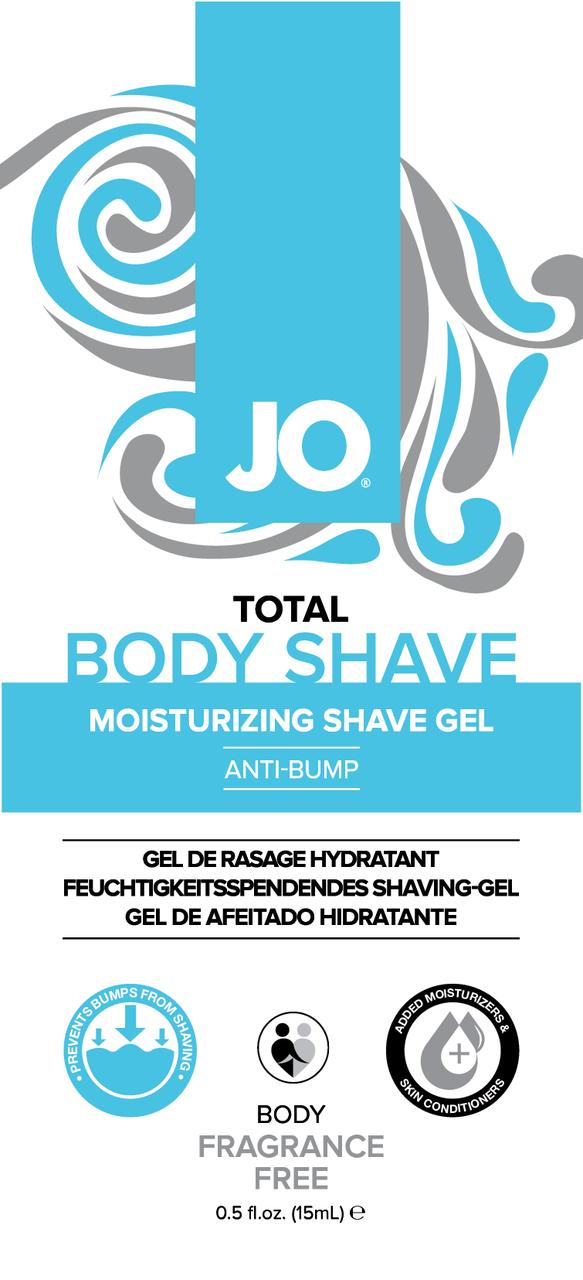 Пробник геля для бритья JO Total Body Anti-Bump Shaving Gel, 15 мл