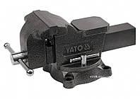 Тиски слесарные YATO поворотные с наковальней 100 мм 7 кг