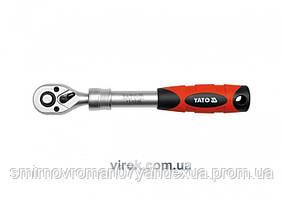 """Трещотка 3/8"""" телескопическая YATO 215-315 мм 72 зубца"""