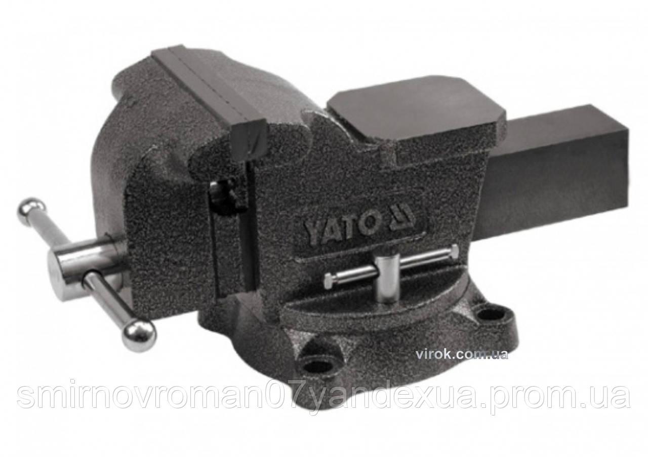 Тиски слесарные YATO поворотные с наковальней 200 мм 21 кг
