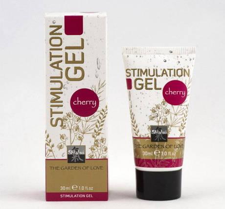 Стимулирующий гель с ароматом вишни Shiatsu Stimulation Gel, 30 мл , фото 2