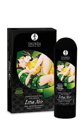 Возбуждающий гель Shunga для двоих Lotus Noir, 60 мл , фото 2