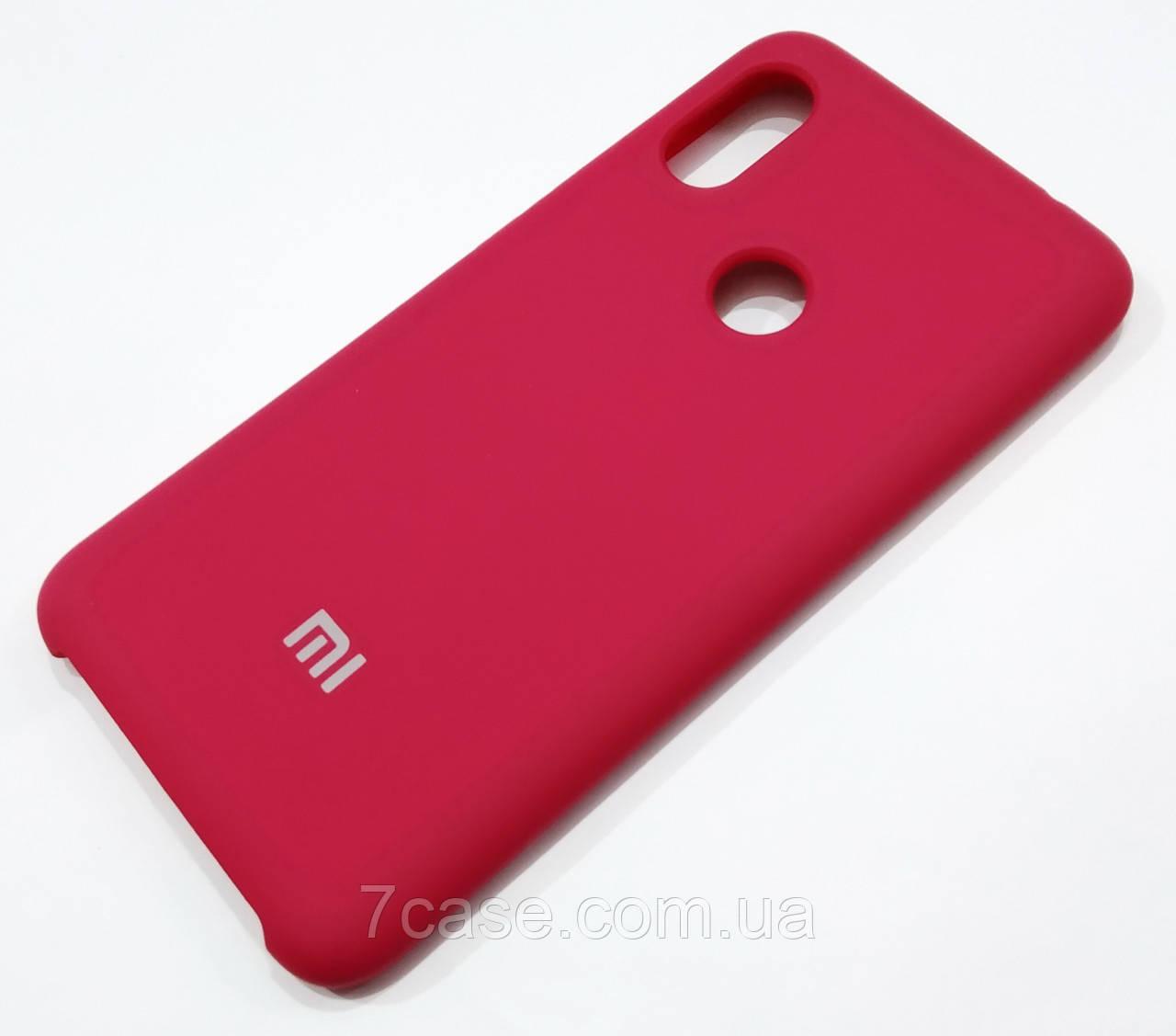 Чохол Silicone Case Cover для Xiaomi Redmi Note 6 Pro темно-червоний wine red