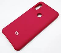Чохол Silicone Case Cover для Xiaomi Redmi Note 6 Pro темно-червоний wine red, фото 1