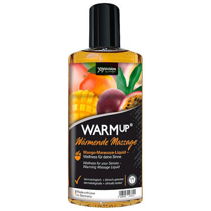 Съедобное массажное масло для оральных ласк WARMup Mango + Maracuya, 150 мл , фото 2