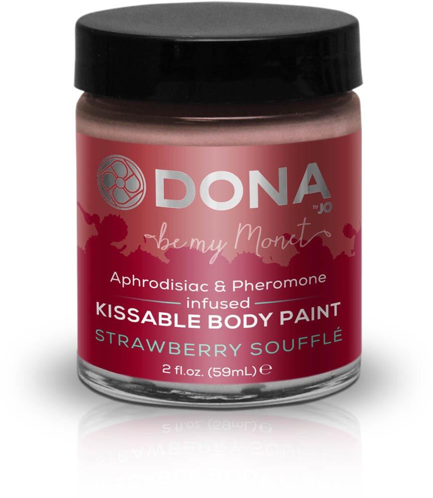 Краска для тела Dona Kissable Body Paint Strawberry Souffle, 59 мл