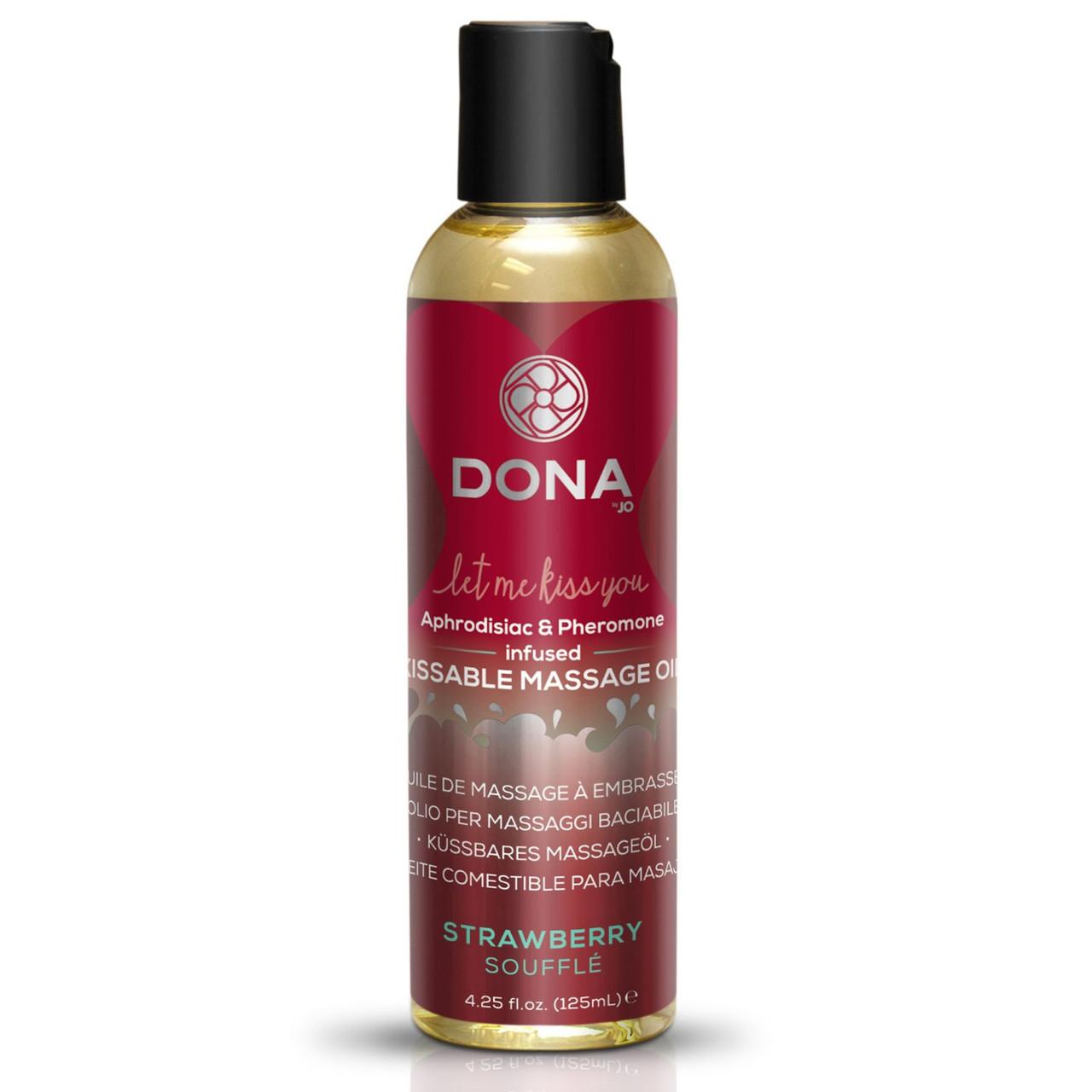 Массажное масло DONA infused  со вкусом Strawberry Souffle, 110 мл