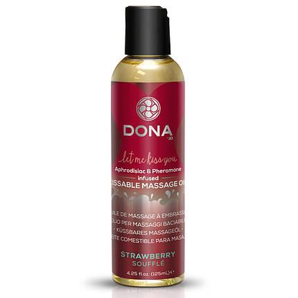 Массажное масло DONA infused  со вкусом Strawberry Souffle, 110 мл , фото 2