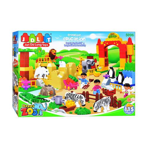 Конструктор JDLT Зоопарк, 115 деталей (5096) аналог Лего