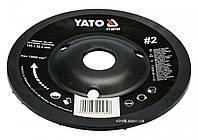 Диск-фреза шлифовальный YATO по дереву, краске, шпаклевке, алюминию 125 х 22.2 мм шероховатость №2, фото 1