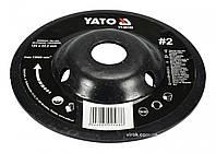 Диск-фреза шлифовальный YATO по дереву, ПВХ, гипсу 125 х 22.2 мм шероховатость №2, фото 1
