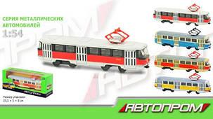 Трамвай металевий 6411 ABCD інерційний Автопром, фото 2