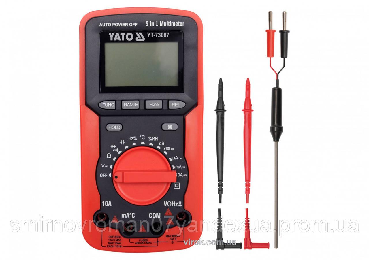 Мультиметр цифровой YATO