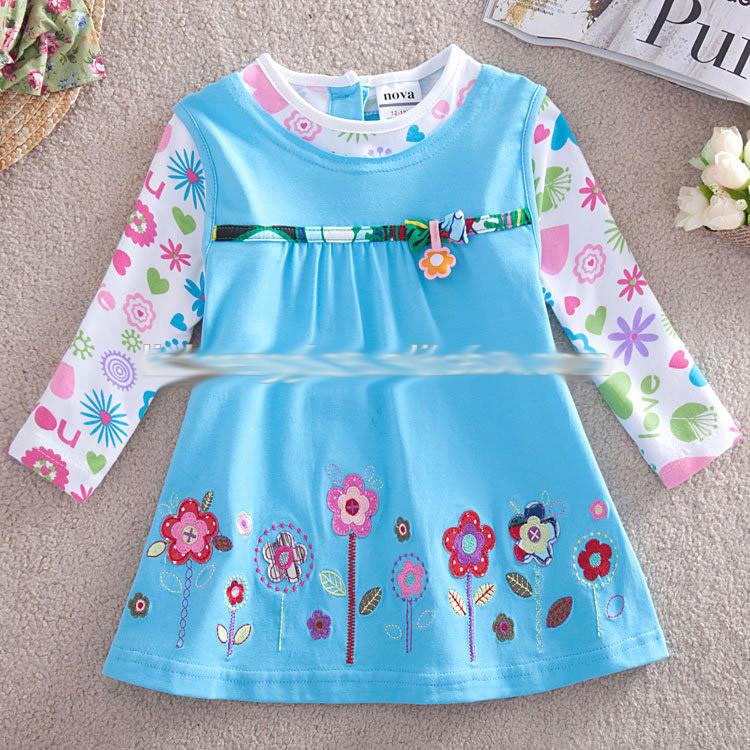 Платье туника на девочку трикотажное
