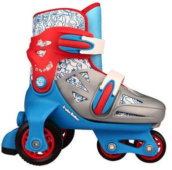Детские роликовые коньки регулируемые NIJDAM 27-30 три колеса