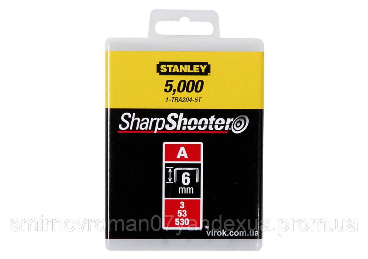 "Скобы для степлера STANLEY ""Light Duty"" ""А"" 6 мм 5000 шт"