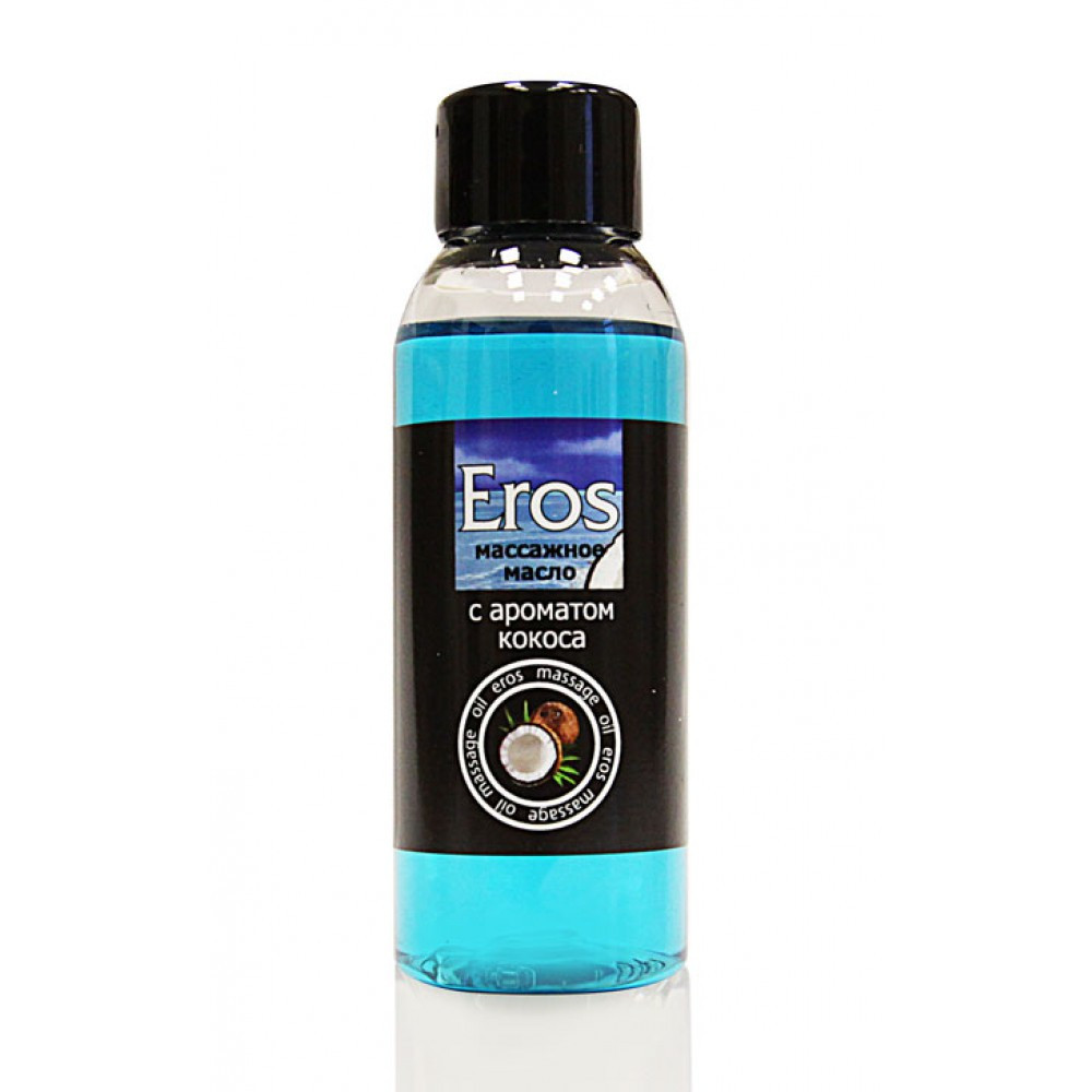 "Масло масажне ""Eros tropic"" з ароматом кокоса, 50 мл"