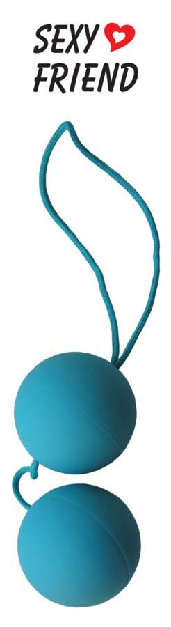 """Шарики вагинальные """"Balls"""" голубые, 3.5 см"""