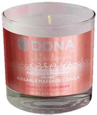 Массажная свеча DONA со вкусом Vanilla Buttercream, 125 мл  , фото 2