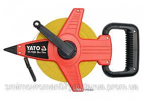 Рулетка геодезическая стекловолоконная YATO 30 м х 13 мм