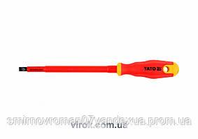 Викрутка діелектрична ізольована YATO до 1000V 8х175мм [12/120]