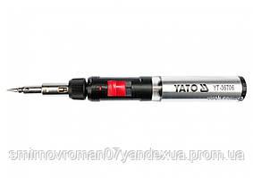 Пальник газовий YATO (t=1300°С), фен (t=600°С) і паяльник (t=450 °С) з обладунками, 3 в 1