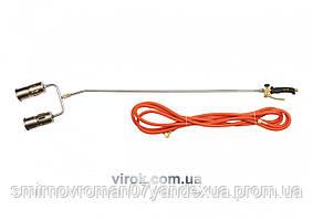 Газовий пальник VOREL з 2-а соплами l= 1385 мм з шлангом l= 5 м [8]