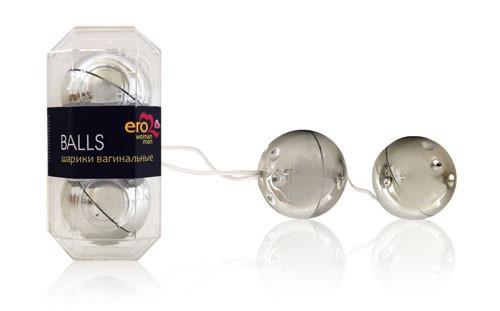 """Шарики вагинальные """"Balls"""" серебряные, 3.5 см"""