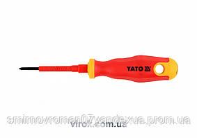 Викрутка діелектрична ізольована YATO до 1000V PH0, l=60мм [12/120]