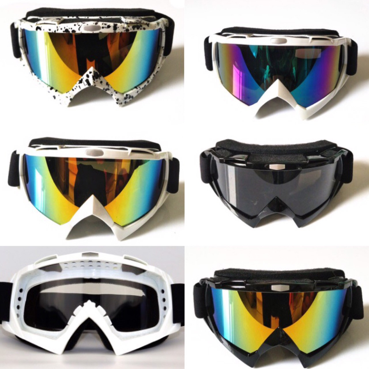 Маска горнолыжная лыжные очки вело мото спорт окуляры