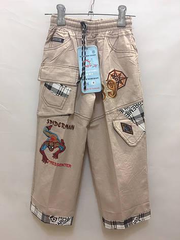 Детские штаны для мальчика Spiderman 5-9 лет бежевые, фото 2