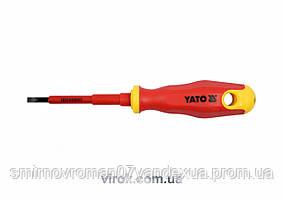 Викрутка діелектрична ізольована YATO до 1000V 4х75мм [12/120]