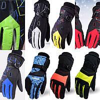 Мужские перчатки горнолыжные лыжные теплые