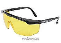 Окуляри захисні YATO відкриті жовті
