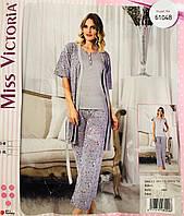 Женская пижама хлопок Miss Victoria Турция размер S-M(44-46) 61048 d282d25fdb43a
