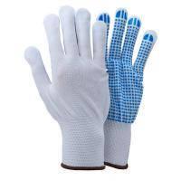 Перчатки трикотажные с точечным ПВХ покрытием р8 (белые, манжет) Sigma (9442411)