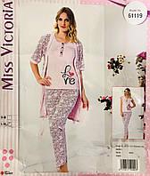 Женская пижама хлопок Miss Victoria Турция размер S-M(44-46) 61119 09d6d9e8ca6d9