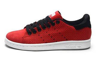 Оригинальные кроссовки женские Adidas Stan Smith Original Red Адидас стан смит