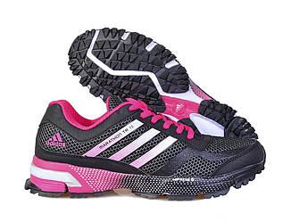 Оригинальные кроссовки женские Adidas Marathon 10 Black Pink