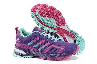 Оригинальные кроссовки женские Adidas Marathon Flyknit Purple