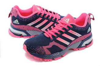 Оригинальные кроссовки женские Adidas Marathon Flyknit Navy Pink
