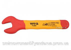 Ключ рожковый диэлектрический YATO М7 мм VDE до 1000 В