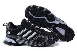 Оригинальные кроссовки женские Adidas Marathon Flyknit Black