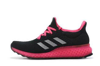 Оригинальные кроссовки женские Adidas Ultra Boost FutureCraft 3D Black Pink Адидас ультра буст