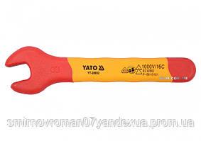 Ключ рожковый диэлектрический YATO М8 мм VDE до 1000 В