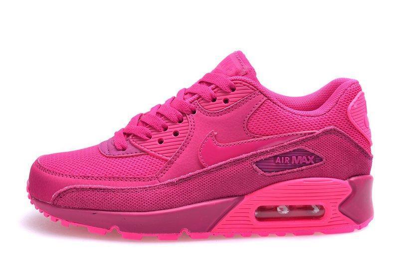 5e6e4859 Кроссовки женские Nike Air Max 90 Premium Fireberry Pink найк аир макс 90