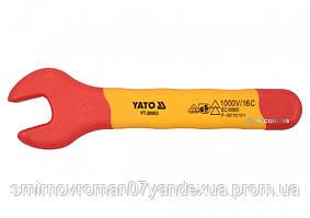Ключ рожковый диэлектрический YATO М9 мм VDE до 1000 В