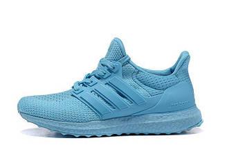 Оригинальные кроссовки женские Adidas Ultra Boost All Light Blue Адидас ультра буст