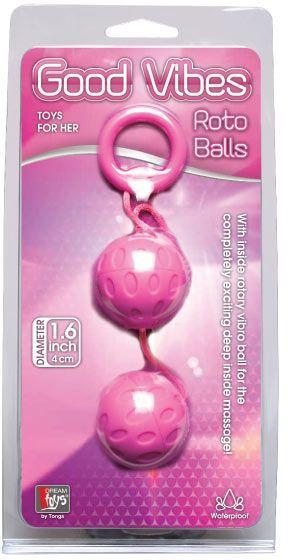 """Вагинальные шарики Dreamtoys """"Roto Balls"""", 4 см"""