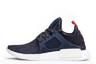 """Оригинальные кроссовки женские Adidas NMD XR1 Primeknit """"GLITCH"""" Navy Blue Адидас NMD"""